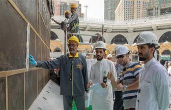 استكمال أعمال صيانة الكعبة المشرفة  بتوجيه من خادم الحرمين الشريفين | صور