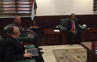 سامح شكري يلتقي عبد الله حمدوك  خلال أول زيارة رسمية بعد تشكيل الحكومة السودانية الجديدة | صور