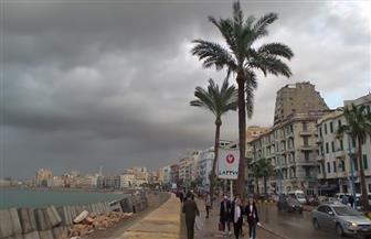 أمطار غزيرة على الإسكندرية في ثاني أيام نوة عيد الميلاد | صور