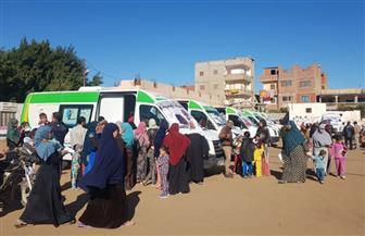 قافلة طبية تعالج  2000  مواطن بالمجان فى القليوبية