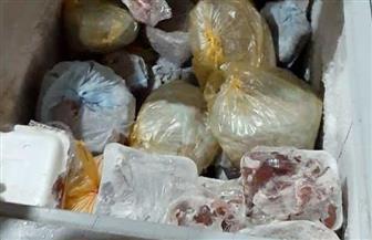 إعدام لحوم وأغذية فاسدة بمطعم شهير في أسوان| صور