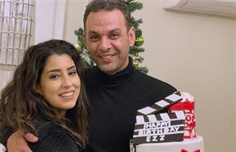 آيتن عامر تحتفل بعيد ميلاد زوجها على طريقتها الخاصة