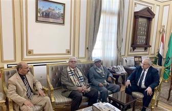"""الخشت يلتقي أعلام """"دار العلوم"""" لمناقشة تجديد الخطاب الديني والحفاظ على اللغة العربية"""