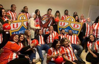 تركي آل الشيخ يوزع تشيرتات وكرات تحمل شعار نادي ألميريا الإسباني في مصر | صور