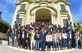 محافظ الإسكندرية يستقبل الدفعة الثالثة من البرنامج الرئاسي لتأهيل الشباب الإفريقي للقيادة APLP | صور