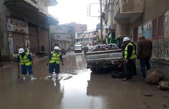 جهود كبيرة في كفر الشيخ لشفط مياه الأمطار| صور