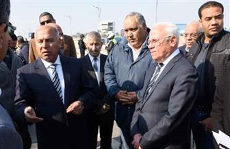 وزير النقل ومحافظ بورسعيد يتفقدان كباري وطرق منطقة الرسوة | صور