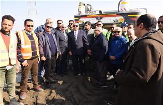 الوزير والغضبان يتابعان سير العمل بكوبري أشتوم الجميل | صور