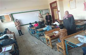 محافظ كفر الشيخ يتفقد سير الامتحانات بمدرسة غرب البنوان | صور
