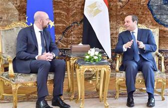 الرئيس السيسي يستقبل الرئيس الجديد للمجلس الأوروبي | صور