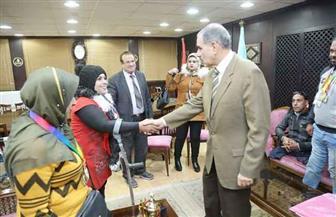 محافظ كفر الشيخ يلتقي فريق مركز شباب دسوق لذوي الاحتياجات الخاصة | صور