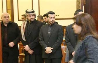 حسين الجسمي يساند إيهاب توفيق ويستقبل المعزين في والده | صور