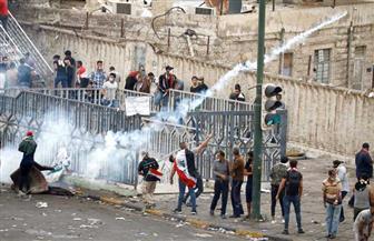 متظاهرون يحرقون مقر القنصلية الإيرانية في كربلاء