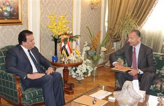 وزير التعليم العالي يلتقي السفير الأمريكي لبحث أوجه التعاون بين البلدين | صور