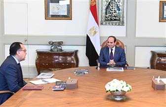 تفاصيل اجتماع الرئيس السيسي مع رئيس الوزراء ووزيرة التعاون الدولي