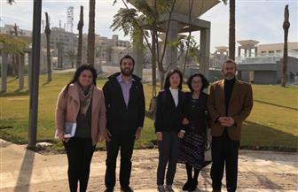 مسئولة البرامج الثقافية بمكتب اليونسكو بالقاهرة تزور المتحف القومي للحضارة المصرية   صور