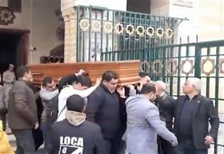 تشييع جنازة نجل مايا مرسي بمسجد السيدة نفيسة   صور