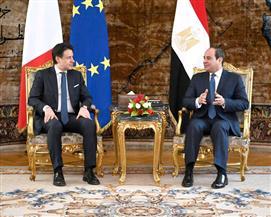 الرئيس السيسي وكونتي يتفقان على تكثيف الجهود المشتركة لدعم مساعي التسوية السياسية في ليبيا