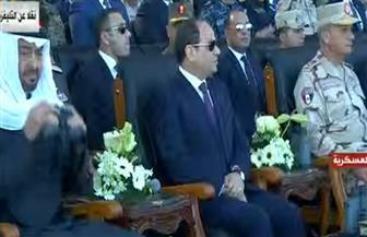 """الرئيس السيسي يشاهد الفيلم التسجيلي """"حماية وطن"""" حول مناورة """"قادر 2020"""""""