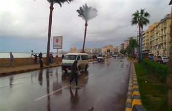نوة الفيضة الكبرى تضرب الإسكندرية بأمطار رعدية | صور