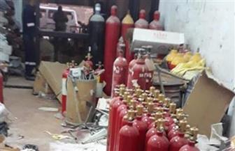 ضبط 650 طفاية حريق مغشوشة داخل ورش غير مرخصة بالبحيرة
