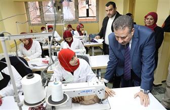 محافظ المنوفية يتفقد مركز التدريب المهني للفتيات بشبين الكوم | صور