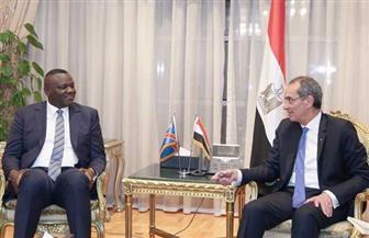 وزير الاتصالات يبحث مع نظيره الكونغولى تبادل الخبرات في مجالات التحول الرقمي