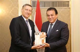 وزير التعليم العالى يستقبل سفير ألمانيا بالقاهرة لبحث التعاون العلمي بين البلدين | صور