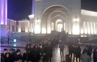 كبار المسئولين والشخصيات العامة في عزاء نجل مايا مرسي | صور
