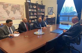 شكري يجتمع مع زعيم الأقلية الجمهورية بلجنة الخدمات العسكرية بمجلس النواب الأمريكي
