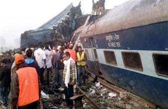 إصابة 16 شخصا بسبب خروج قطارعن القضبان بالهند