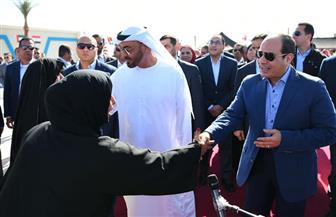 الرئيس السيسي وولي عهد أبو ظبي يفتتحان مهرجان شرم الشيخ التراثي العربي | صور