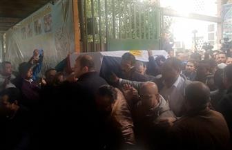 تشييع جثمان الفنانة ماجدة الصباحي ملفوفا بعلم مصر| صور