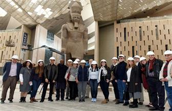 وفد البنك الدولي في جولة بمنطقة الأهرامات والمتحف المصري الكبير | صور