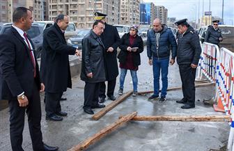 محافظ الإسكندرية يكشف موعد افتتاح كوبري محرم بك | صور