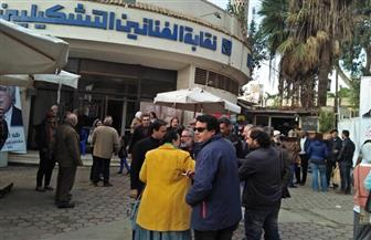 إقبال متزايد  للتصويت في انتخابات الإعادة على مقعد نقيب التشكيليين  | صور
