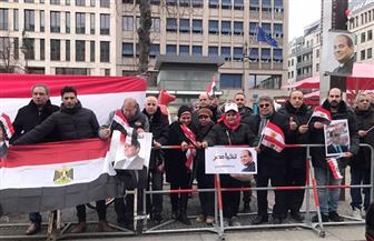 الجالية المصرية في برلين تنظم وقفة ترحيب بالرئيس السيسي | صور وفيديو