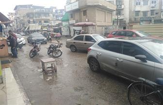 استمرار سقوط الأمطار على مدينة دمياط |صور