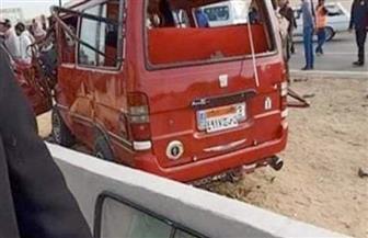 إصابة 6 أشخاص فى حادث تصادم أعلى طريق الكريمات الصحراوى