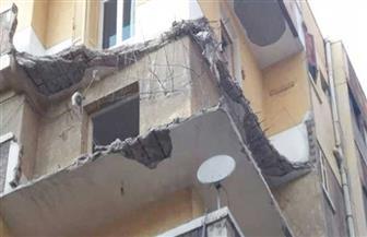سقوط «تندة» بلكونة بسبب سوء الأحوال الجوية وإصابة مواطن بالمنصورة