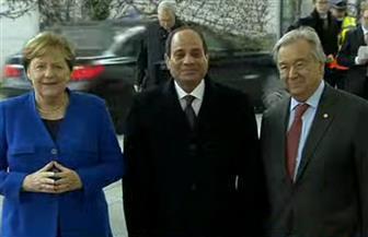 الرئيس السيسي يصل مقر انعقاد مؤتمر برلين حول ليبيا