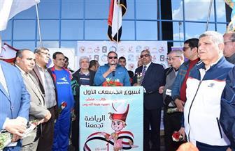 جامعة سوهاج تطلق تميمة الأسبوع الأول للجامعات المصرية | صور