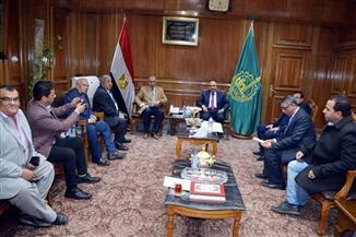 """رئيس مجلس إدارة """"الأهرام"""" يلتقي محافظ القليوبية  صور"""
