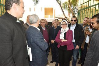 وزيرة الصحة تتفقد أعمال تطوير وحدة صحة الغريرة| صور