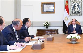 """الرئيس السيسي يبحث تطورات """"سد النهضة"""" ومكافحة الإرهاب مع وزراء الدفاع والخارجية والري"""