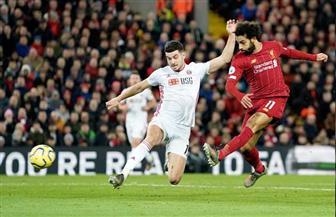 ليفربول يتقدم بهدف محمد صلاح على شيفيلد في الشوط الأول