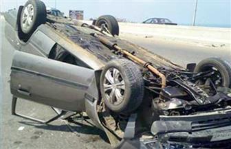 إصابة 6 أشخاص في حادث انقلاب سيارة بأخميم