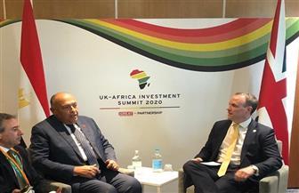شكري يلتقي وزير خارجية بريطانيا على هامش قمة إفريقيا بريطانيا للاستثمار بالعاصمة لندن| صور
