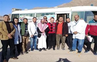فرق طبية متحركة تجوب وادي ميعر بطور سيناء لفتح ملفات طب الأسرة|صور