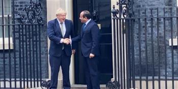 بدء مباحثات القمة بين الرئيس السيسي ورئيس الوزراء البريطانى بلندن